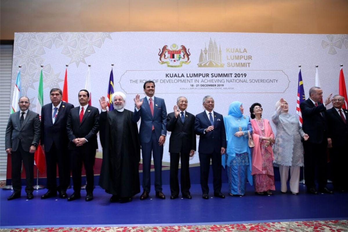 روحانی ، سعد حریری، اردوغان ، امیر قطر و ماهاتیر محمد در یک قاب