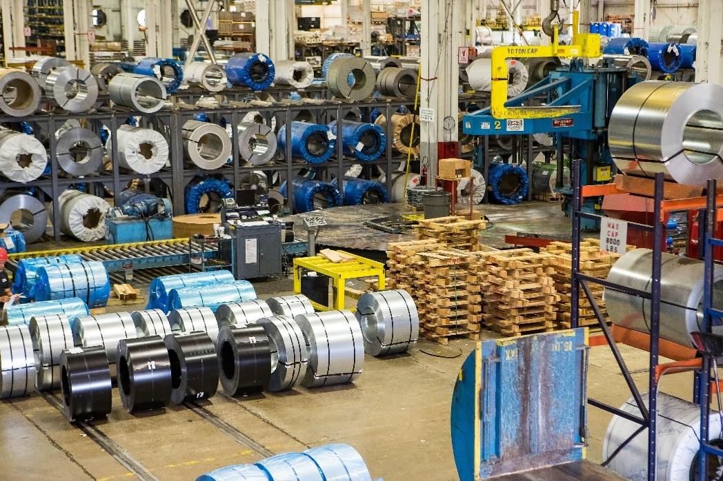 نمایی از کارخانه تولید ورق فولادی مصرفی در صنعت خودرو