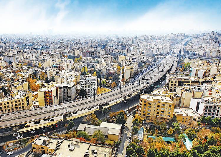 پل طبقاتی بزرگراه شهید صدر