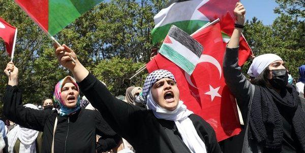 درخواست شهروندان ترکیهای درباره فلسطین