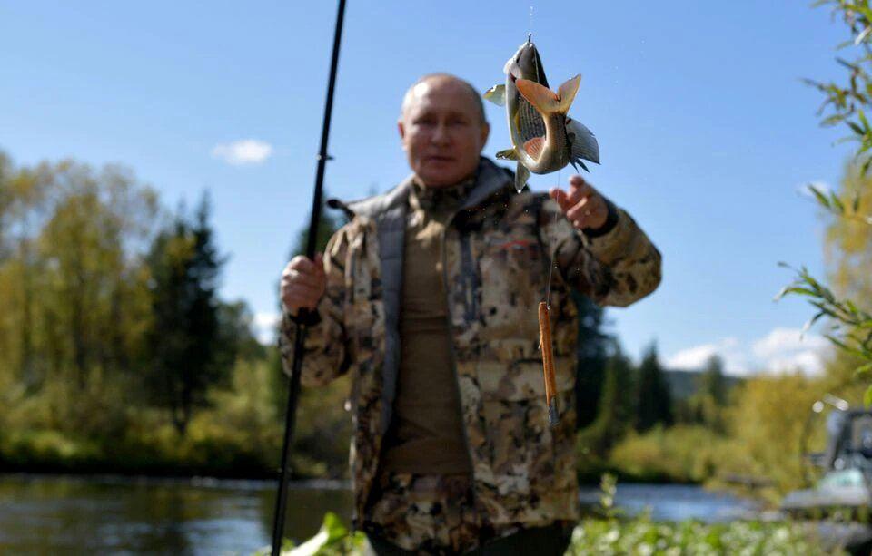 ماهیگیری پوتین/عکس