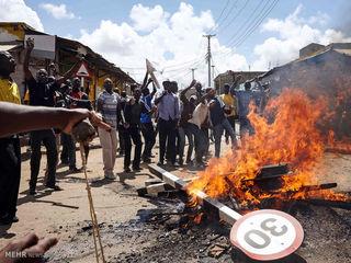 تحلیف رئیس جمهور کنیا در میان اعتراضات