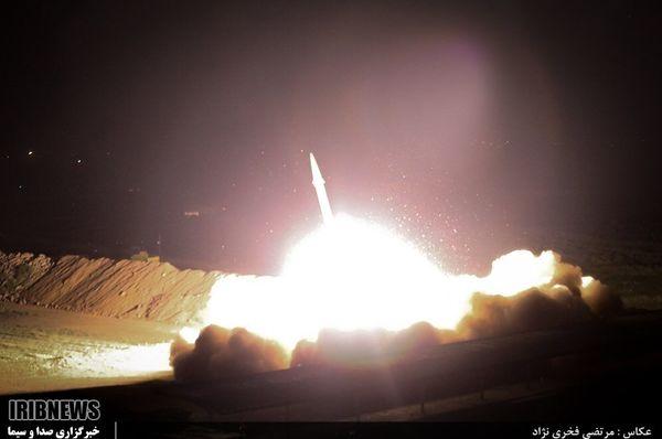 این موشک ایرانی مقر تروریست ها را نابود کرد + تصاویر