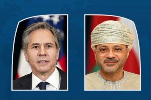 گفتگوی تلفنی وزیران خارجه آمریکا و عمان