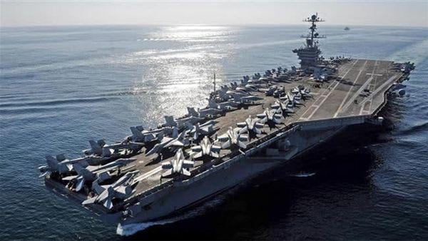 ناوهواپیمابر آمریکایی در حال بازگشت به خلیج فارس