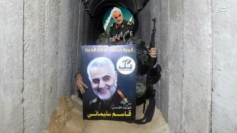تصویری از سردار سلیمانی در تونل زیرزمینی غزه