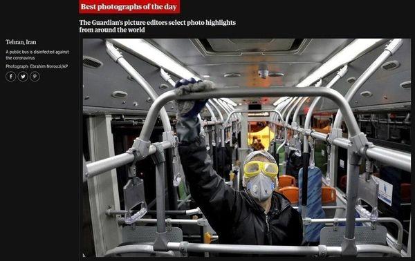 ببینید | عکس جالبی از اتوبوسهای تهران که عکس روز گاردین شد