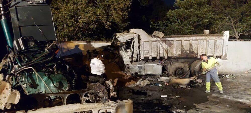 تصادف خونین دو کامیون در ولنجک/ ۳ نفر جان باختند