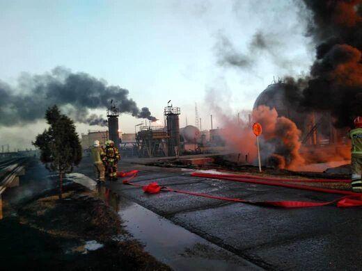 آخرین وضعیت آتشسوزی در پالایشگاه تهران