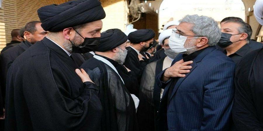 حضور سردار قاآنی در مراسم ترحیم مرجع تقلید معروف+ عکس
