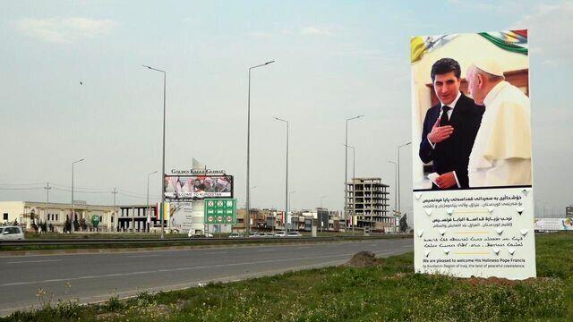پاپ وارد اربیل شد/عکس