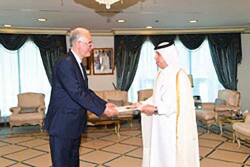 سفیر جدید ایران در قطر رونوشت استوارنامه خود را تقدیم کرد