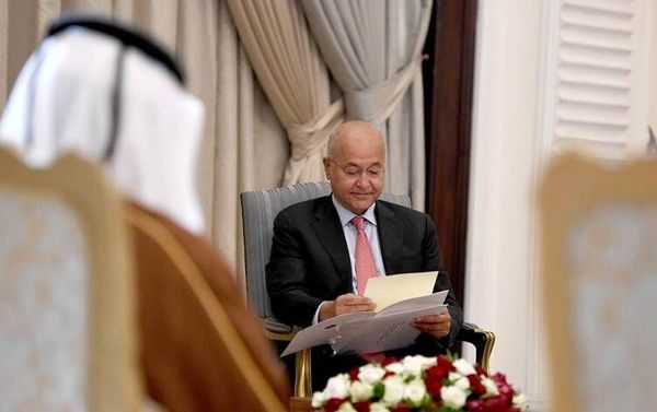 تقدیم نامه امیر قطر به رییس جمهوری عراق