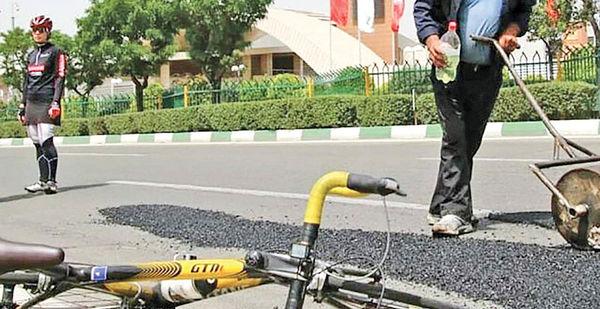 دوچرخهسوارهای آسفالت کار