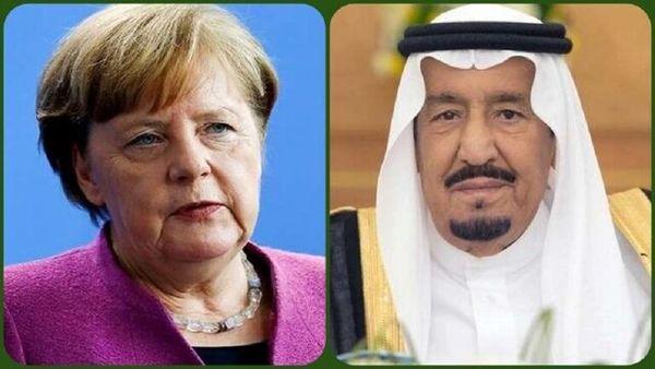 گفتگوی تلفنی پادشاه عربستان و مرکل