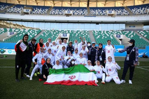 بازگشت تیم ملی فوتبال بانوان به کشور