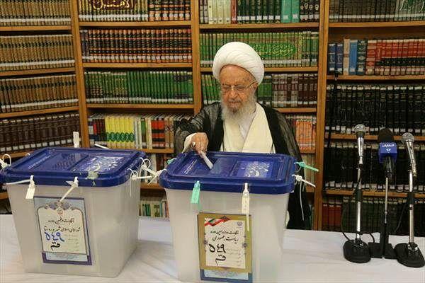 شرکت آیتاللهالعظمی مکارم شیرازی در انتخابات