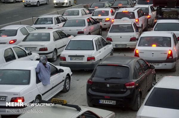 ترافیک سنگین در بزرگراه تهران-کرج