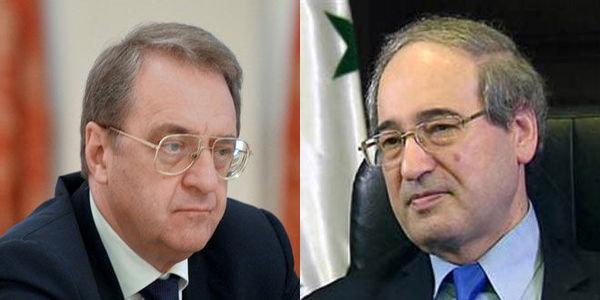 گفتوگوی نماینده پوتین با وزیر خارجه سوریه درباره حل مسائل این کشور