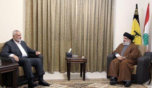 جزئیات دیدار حسن نصرالله و اسماعیل هنیه