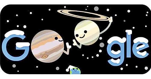 تغییر لوگوی گوگل  به مناسبت مقارنه مشتری و زحل