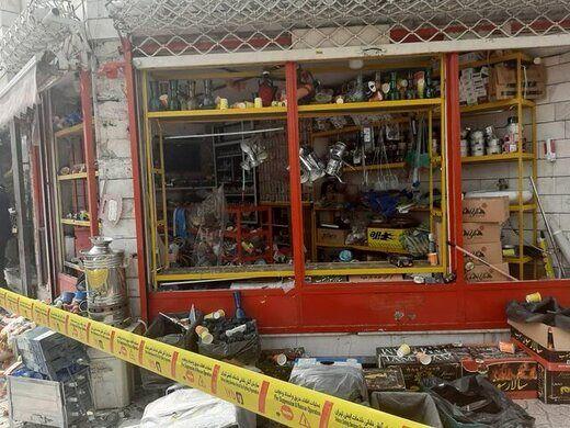 انفجار نارنجک دستساز در یک مغازه در تهران/ عکس