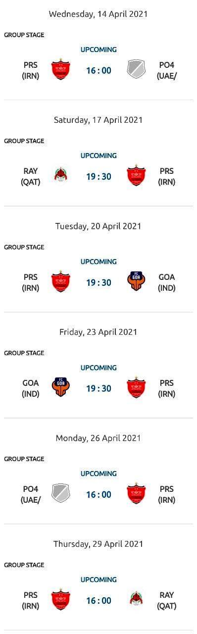 اعلام ساعت بازیهای لیگ قهرمانان آسیا 2021/عکس