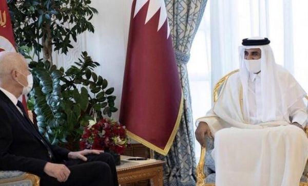 رئیس جمهوری تونس با امیر قطر دیدار کرد