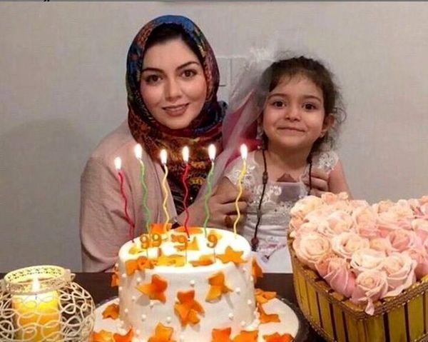 دلنوشته آزاده نامداری برای دختر 4 ساله اش