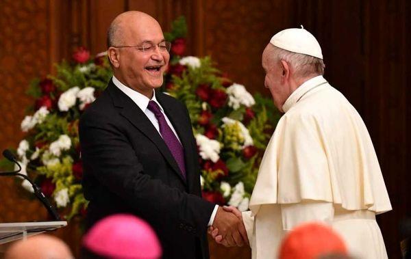 تقدیم نامه پاپ فرانسیس به رییس جمهور عراق از سوی سفیر واتیکان