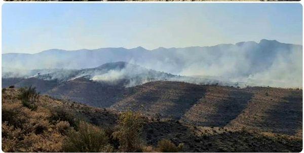 آتش به جان کوههای فیروزآباد افتاد