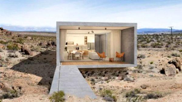 تصاویری از یک خانه مجلل و لوکس در وسط بیابان