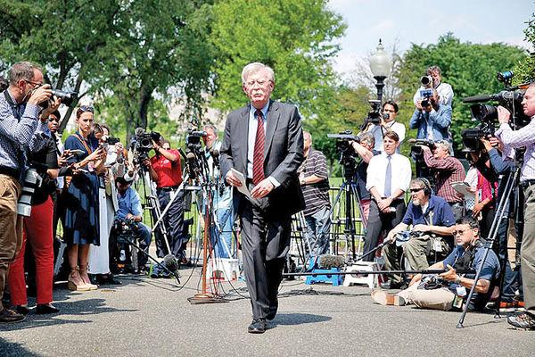 آمادگی بولتون برای شهادت علیه ترامپ