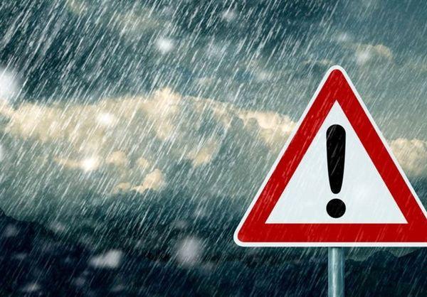 بارش باران ۵ روزه در ۲۱ استان کشور