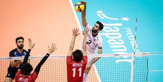 لیگ ملتهای والیبال؛ ایران صفر- ژاپن 3