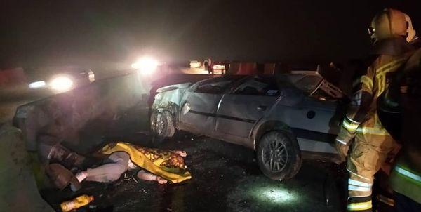 مرگ یک جوان در حادثه تصادف در جاده ورامین