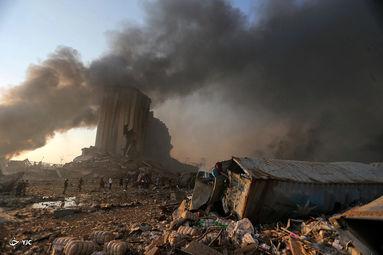 تصاویر دردناکی از انفجار مهیب در بیروت