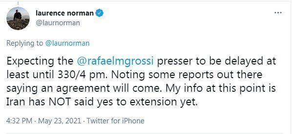 کنفرانس خبری «رافائل گروسی» درباره ایران به تعویق افتاد