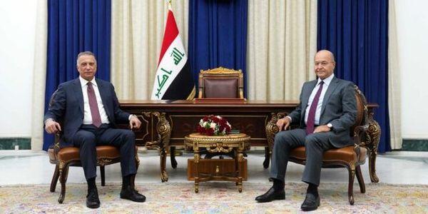 گفتگوی الکاظمی با رئیس جمهور عراق درباره نتایج سفر خود به آمریکا