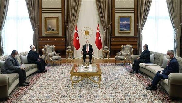 اردوغان با خطیب مسجدالاقصی دیدار کرد