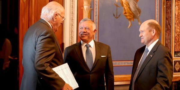 مذاکره شاه اردن با سناتورهای آمریکایی در خصوص آتشبس غزه
