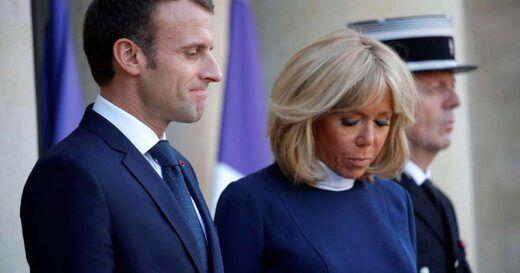 ادای احترام مکرون و همسرش به ناپلئون+ عکس