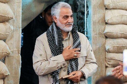 تصویر ویژه منتشر شده از سردار سلیمانی در سایت رهبری