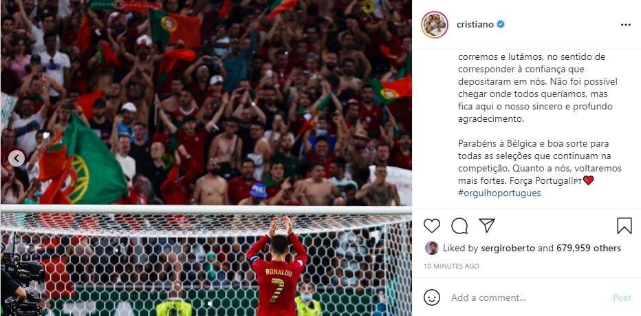 قول ویژه رونالدو به هواداران پرتغال: با قدرت هر چه تمامتر برمیگردیم/عکس