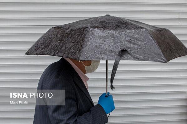 بارش باران و وزش باد شدید در اکثر مناطق کشور