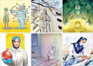 تقدیر هنرمندان نقاش از پرستاران