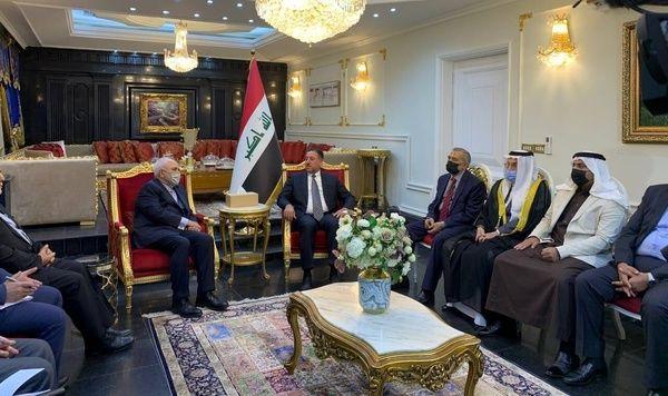 دیدار ظریف با یکی از رهبران سیاسی اهل سنت عراق