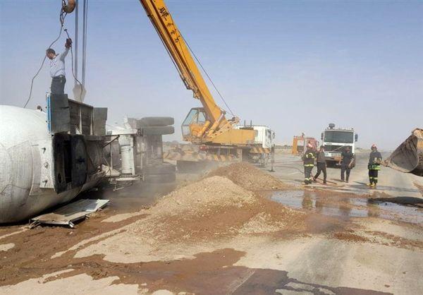انفجار تانکر حمل گاز در بندر ماهشهر دو کشته بر جا گذاشت
