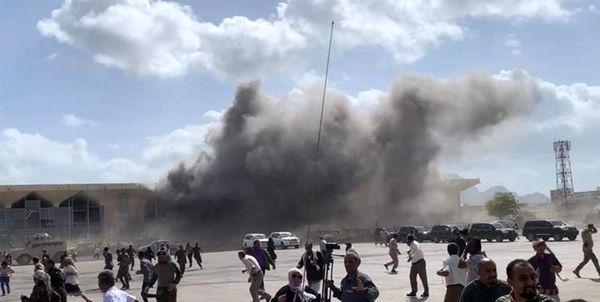 صدای انفجار در فرودگاه عدن همزمان با ورود کابینه جدید دولت مستعفی
