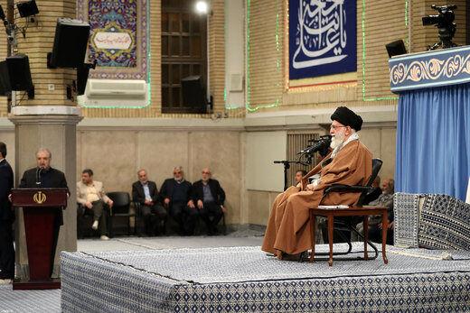 رهبر انقلاب: کشور را به سمت جنگ نمیبریم/ مردم مطالبات به حق دارند/ آمریکا انتقام داعش را از حشدالشعبی میگیرد